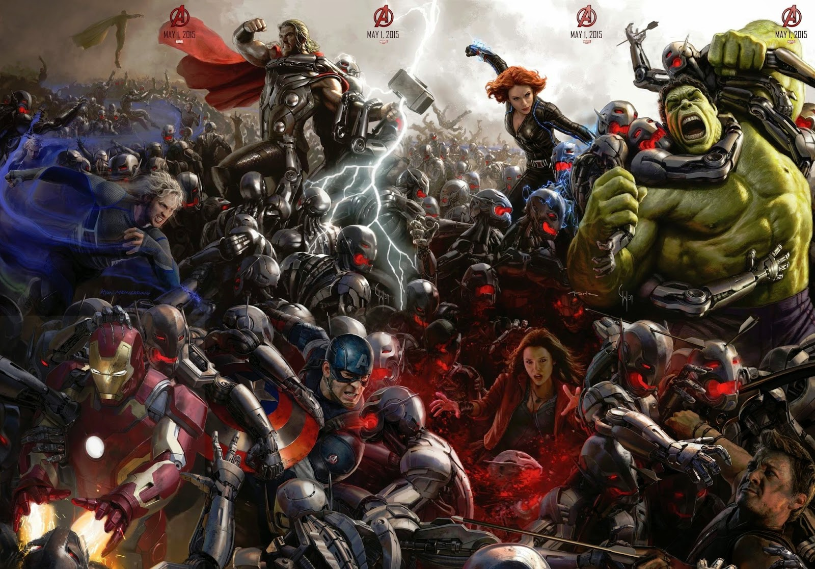 Avengers: Age of Ultron & Ant-Man - New Posters & Concept Art Image - SDCC 2014