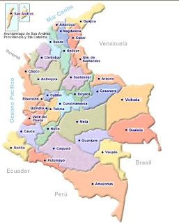 colombia mapa politico