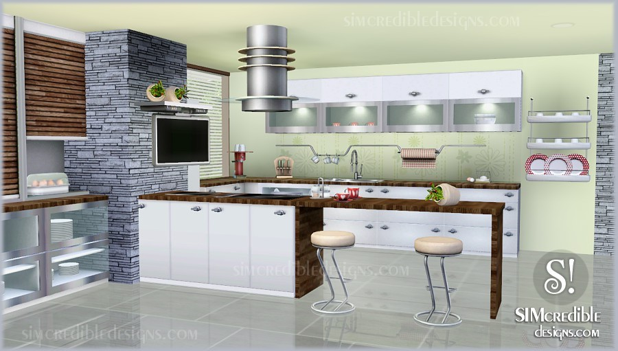 my sims 3 blog concordia kitchen set by simcredible designs