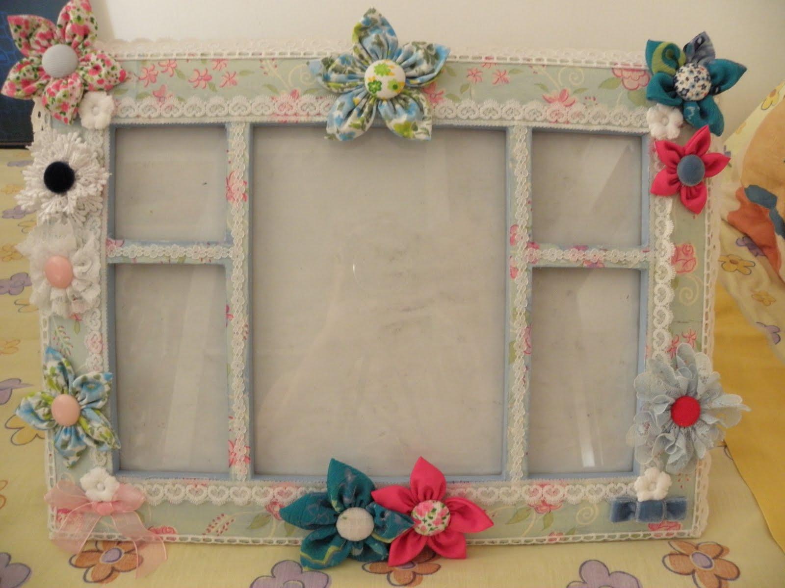 El olor de c diz flores marcos espejos cofres fimo for Marcos decorados para espejos
