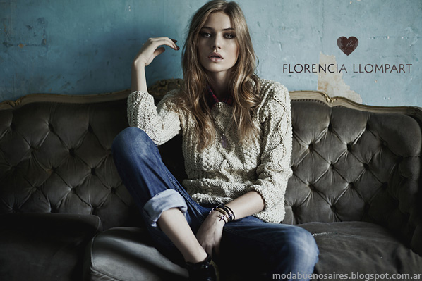 Moda invierno 2014 sweaters tejidos invierno 2014 Moda Florencia Llompart.