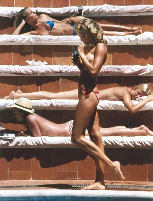Slim Aarons sunbathing photograph