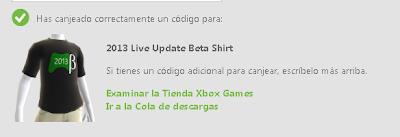 Camiseta de la Beta para el avatar