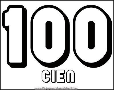 Números para Imprimir y Colorear: 100,200,300,400,500