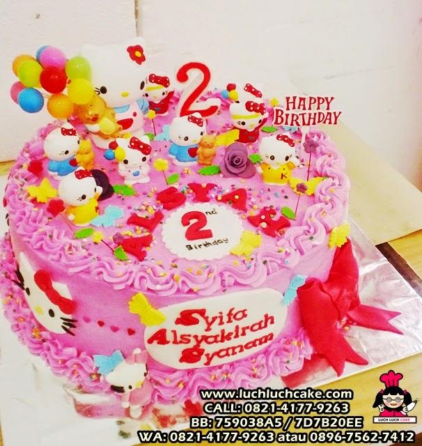 kue tart hello kitty cute ulang tahun anak
