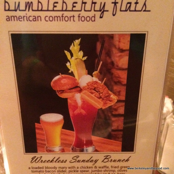 Wreckless Sunday Brunch bloody mary at Bumbleberry Flats at Pioneer Gambling Hall in Laughlin, Nevada