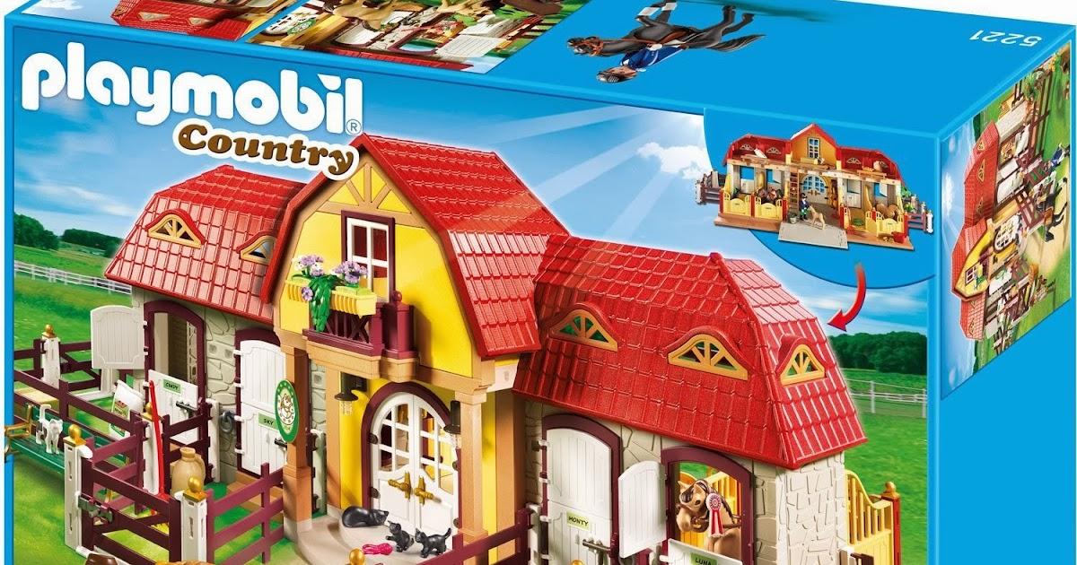 Playmobil ref 5221 boite haras avec chevaux et enclos - Playmobil haras ...