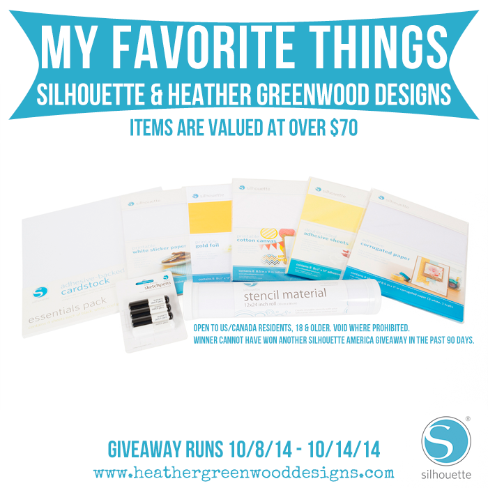 Heather Greenwood Designs | My Favorite Things Giveaway #SilhouetteAmerica