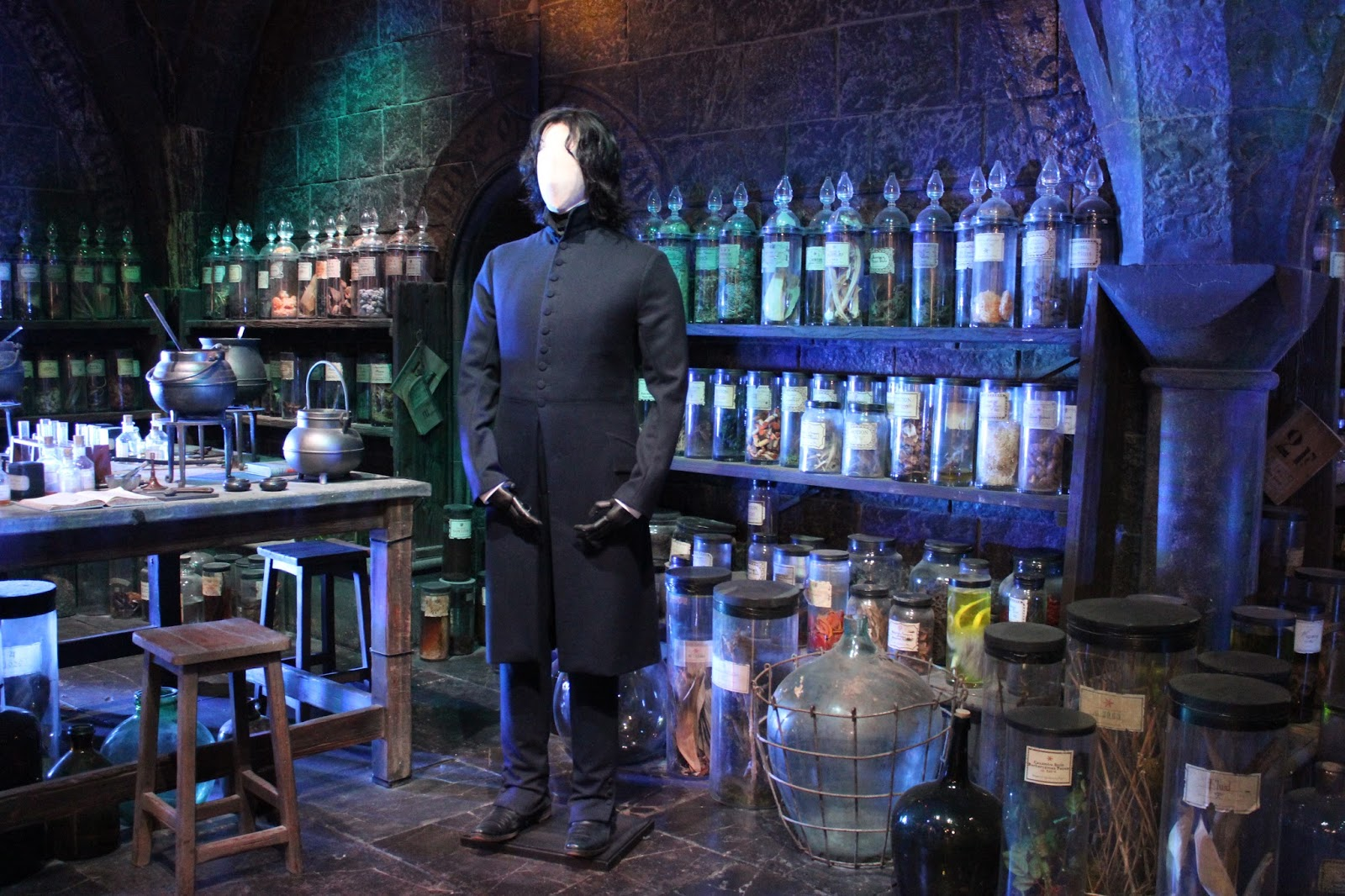 Harry Potter studio tour london potions classroom and snape