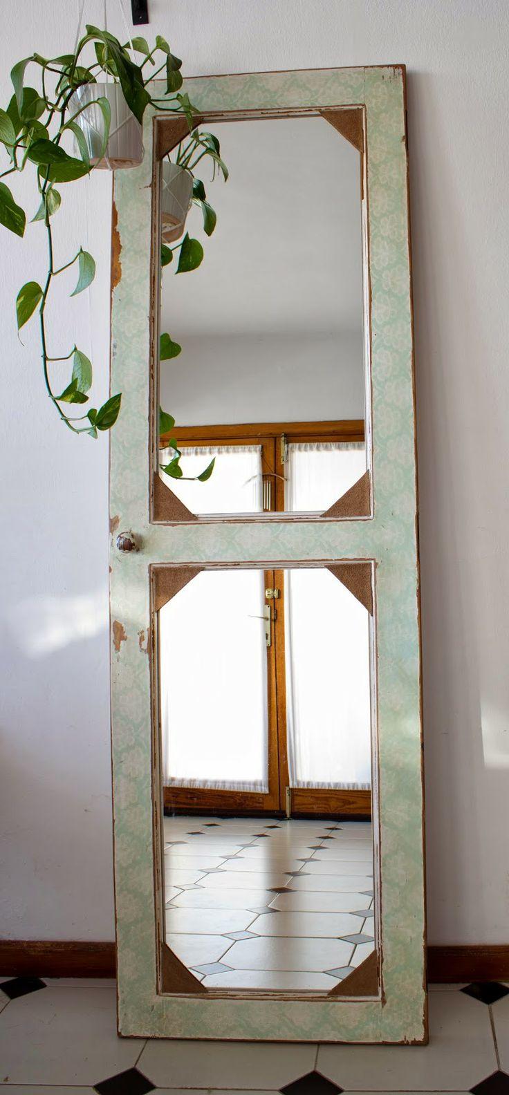 Reciclar reutilizar y reducir c mo convertir puertas for Espejos con puertas viejas