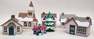 Christmas Village Paper Toys Papercraft