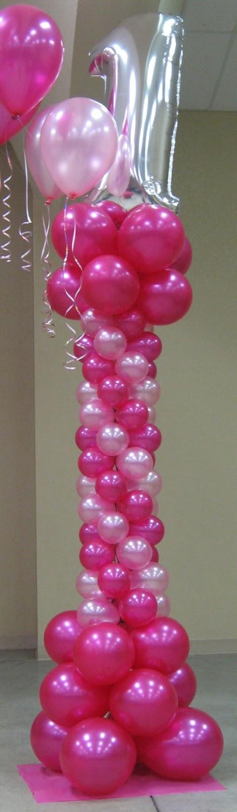 Decoraci n con globos c mo hacer una columna fiestas for Como hacer decoracion con globos