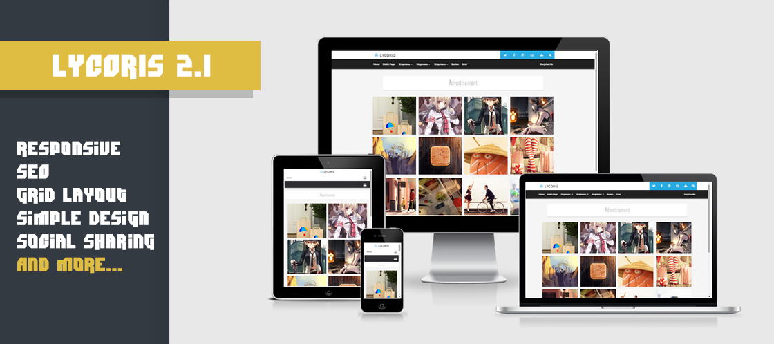 Lycoris 2.1 Responsive Blogger Template