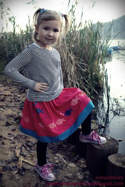stenciled skirt