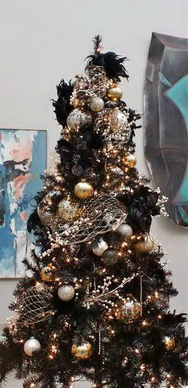 lake house plans decorating combine black gold for christmas. Black Bedroom Furniture Sets. Home Design Ideas