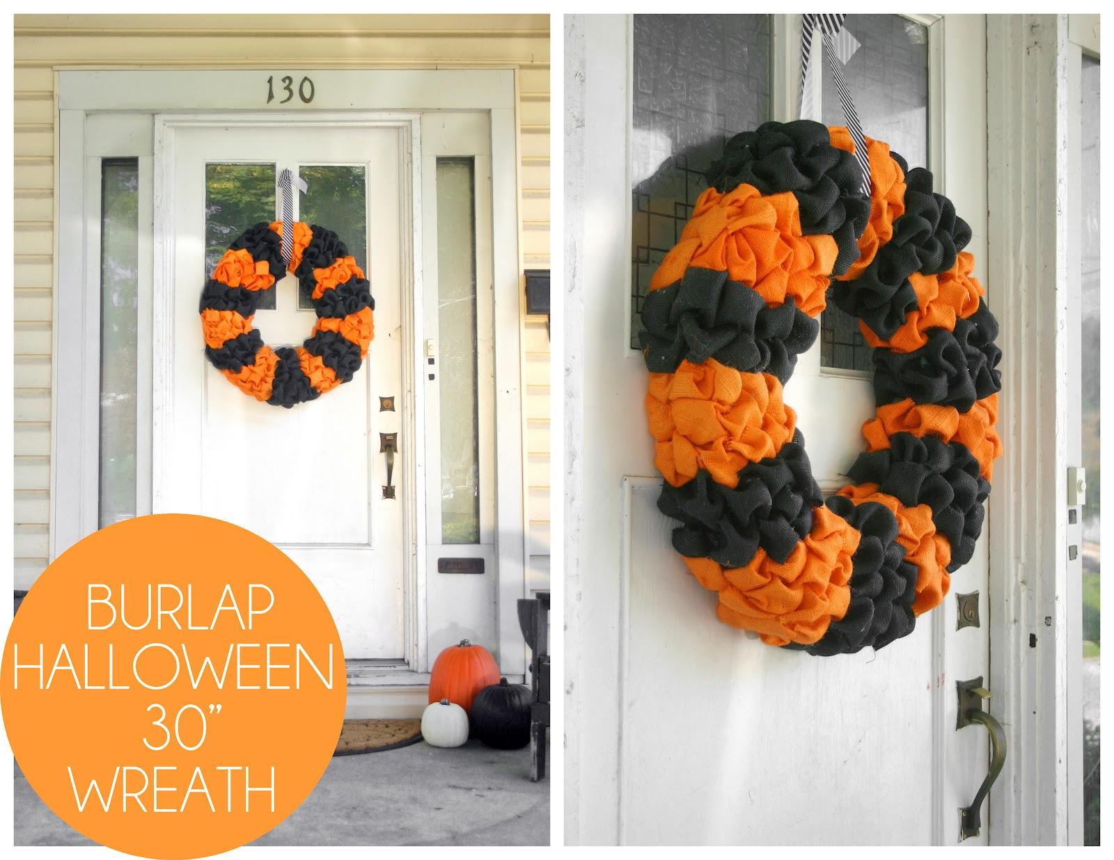 Grosgrain Diy Large Burlap Halloween Wreath And Form