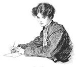 Woman Writing Letters