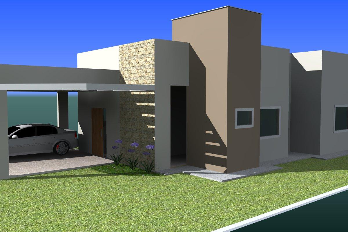 Constru o da casa ser que d fachada - Pinturas de casas modernas ...
