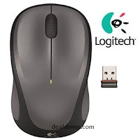 Logitech M235 Wireless Mouse (Grey)