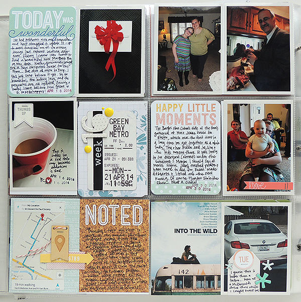 Studio Calico Project Life Spread by She Zig Zags