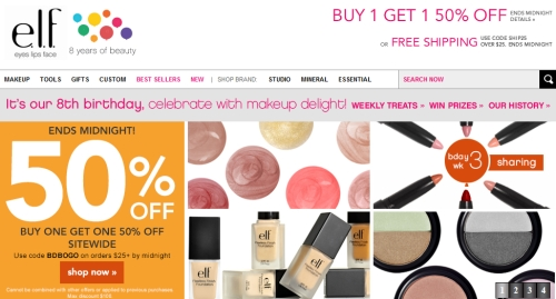 Nov 01,  · elf Coupons website view Eyes Lips Face is the number one website for affordable and cutting edge beauty products. Visit their site for the latest in makeup, skincare, tools, nail products, gifts, beauty bundles and so much more.