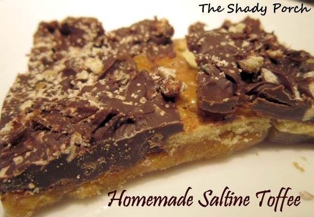 Homemade Saltine Toffee saltine crackers salty sweet toffee candy