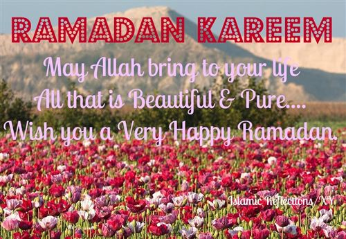 Beautiful Flower Image And Ramadan Kareem Quote