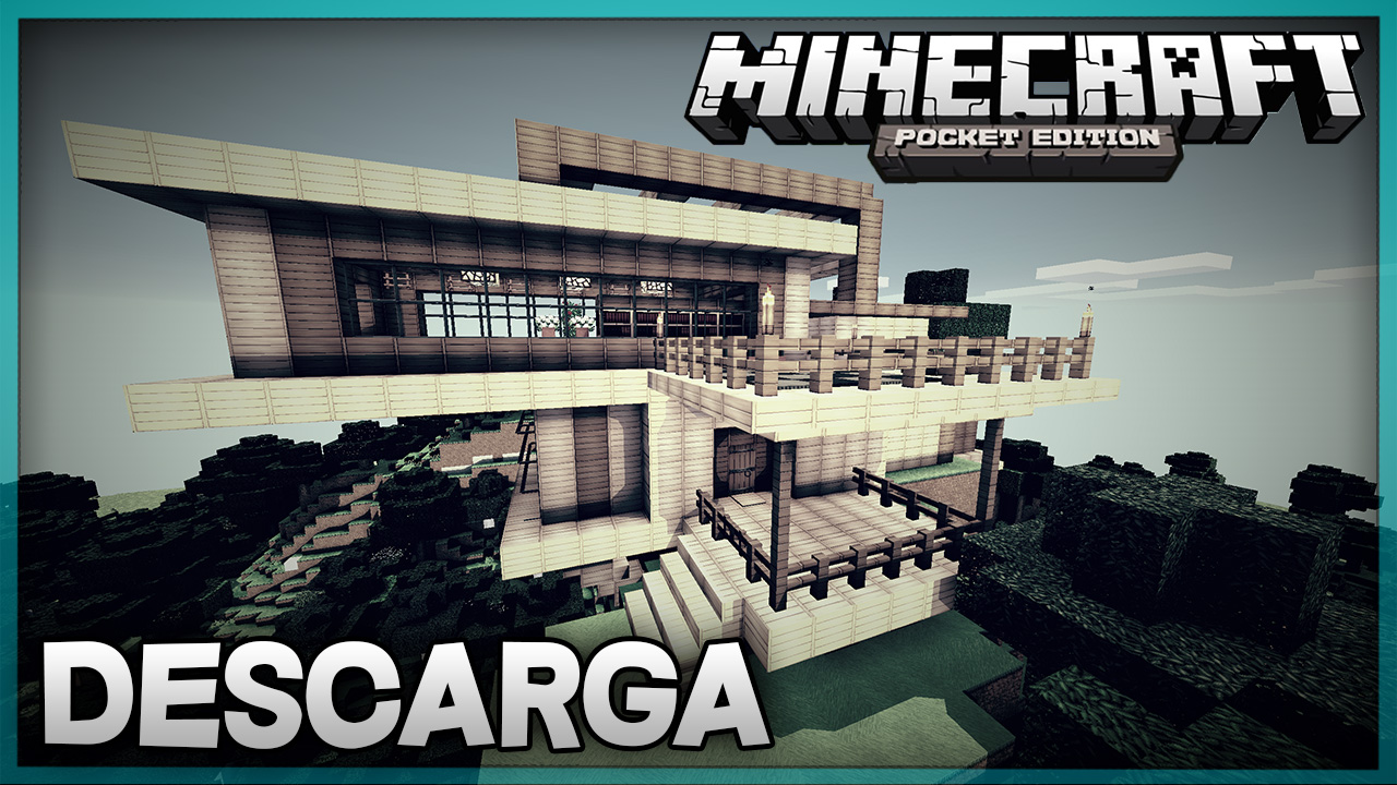 Descarga casa moderna para minecraft pe super casa for Casa moderna minecraft pe 0 10 5