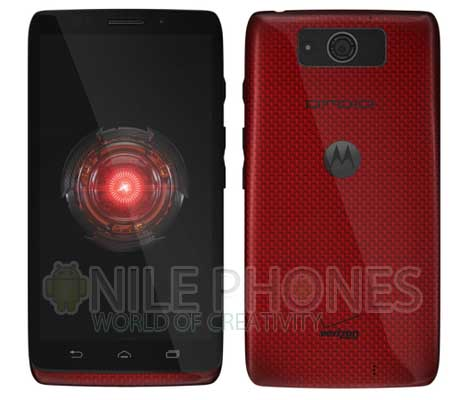 Red Motorola DROID Ultra