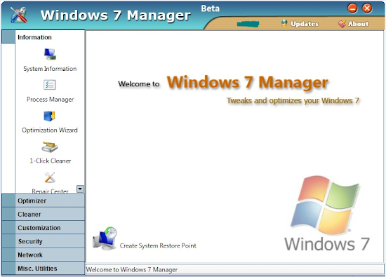 Windows 7 Manager 4.3.1 Full Patch 2