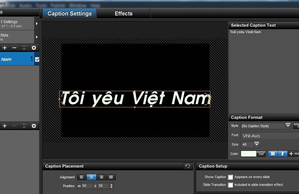 khắc phục  lỗi Font chữ tiếng việt ProShow Producer