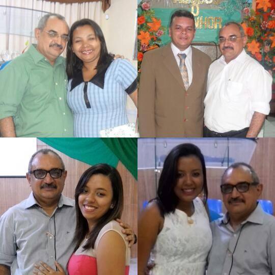 Ana Cleide, Ecrivaldo Gomes, Elaine Gomes e Alline Gomes.