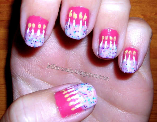 Cake Nail Art Design : Killer Nails: Happy Birthday to Me!!