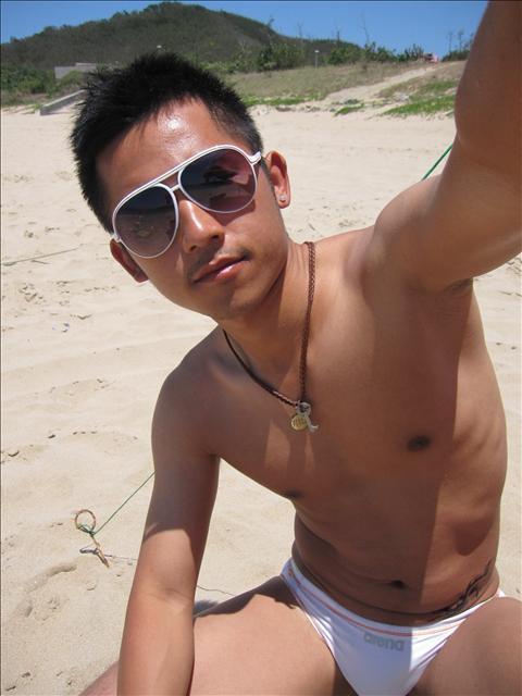 asian man swim wear