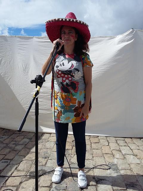 Isabel Camiña en una actuación en Sevilla