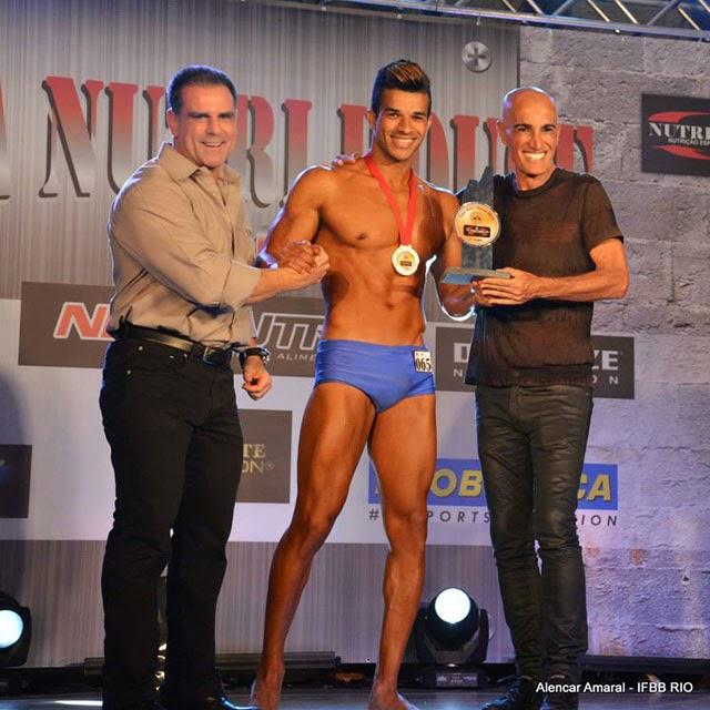 Pedro Lívio foi Campeão Overall Body Shape da Copa Nutri House 2014 Foto: Alencar Amaral