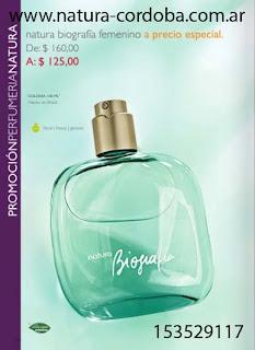 perfumes de natura, comprar perfumes de natura, natura biografia, perfume biografia, biografia 100ml, colonias de natura