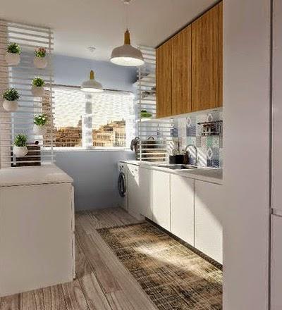 Decorole soluciones separar ambientes for Lavadero cocina