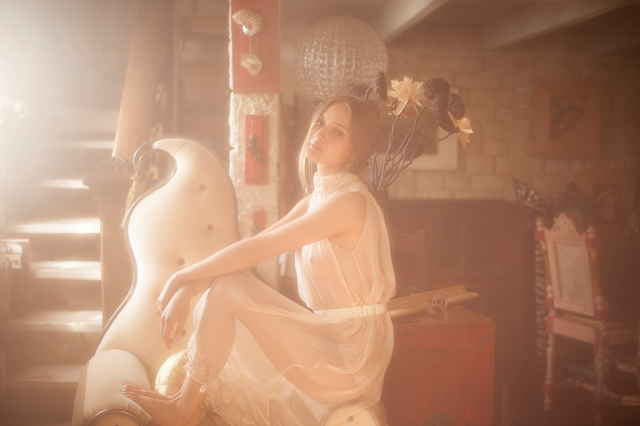 photographe vivienne mok femme babaydoll lingerie felice art couture déshabillé soie mousseline ivoire mariage