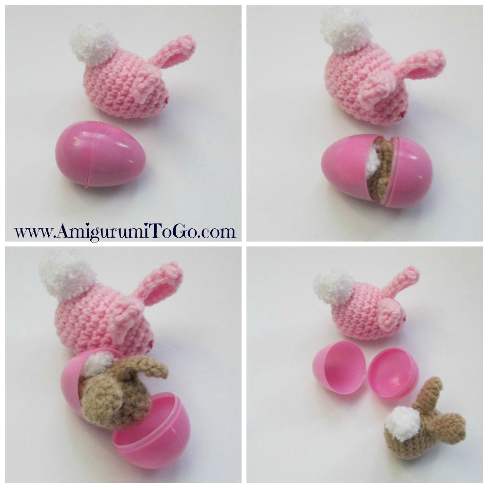 pink crochet bunny egg