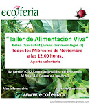 Charlas de Alimentacin Viva en Ecoferia de la Reina!