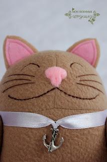 Мои любимые игрушки, текстильная игрушка, довольный кот