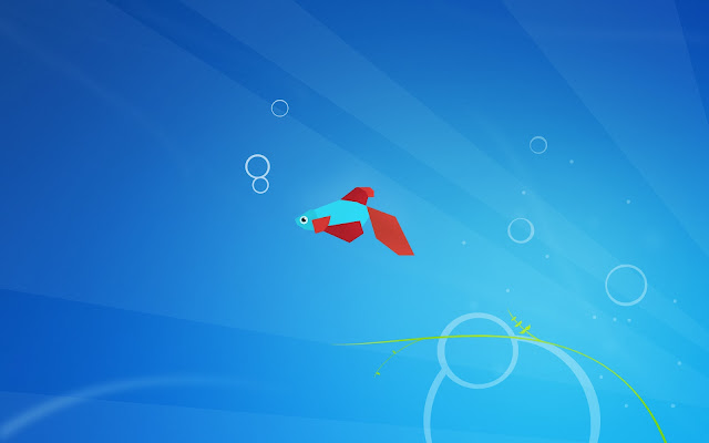 Blauen Windows 8 wallpaper mit fisch