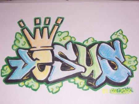 Imagen de graffiti que diga Jesus  Imagui