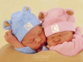 niños azul y niñas rosa
