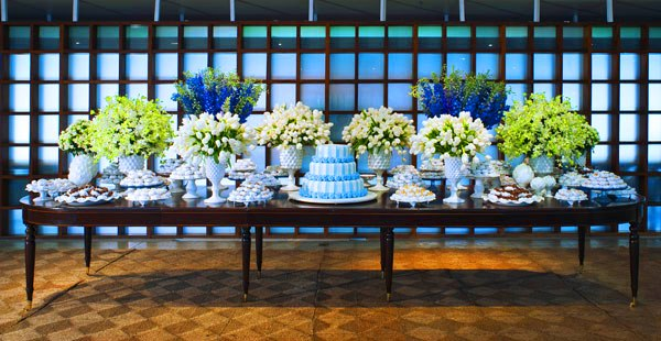 decoracao de casamento azul marinho amarelo e branco:Casando em Brasília – DF: Decoração em Azul