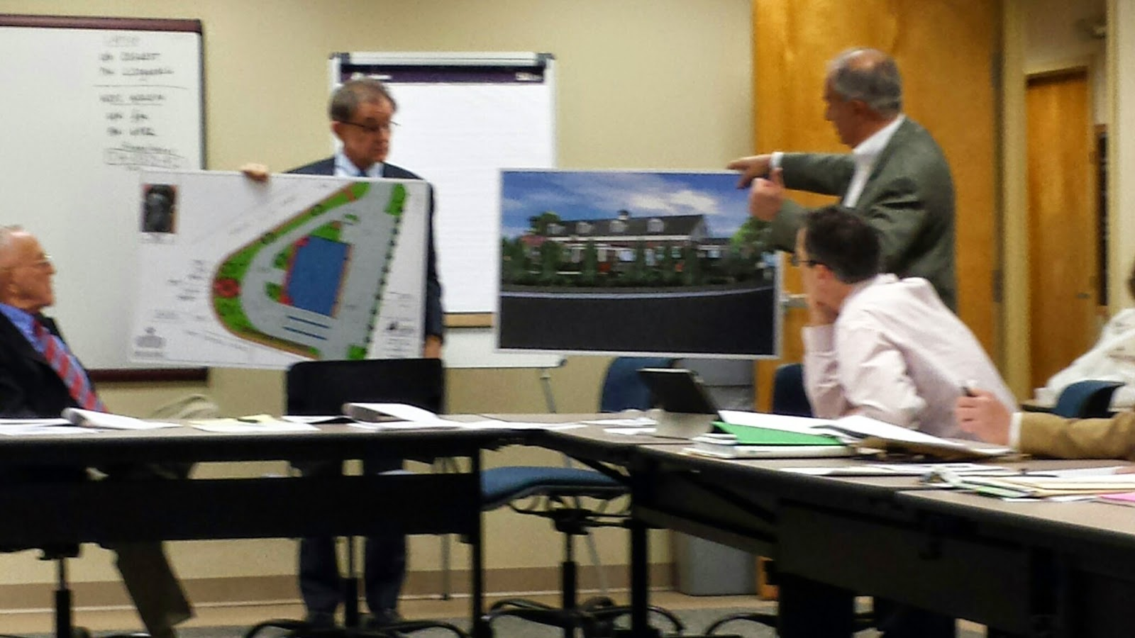 Roger Calarese (right) and Jeff Nutting (left)  at Economic Development Committee meeting