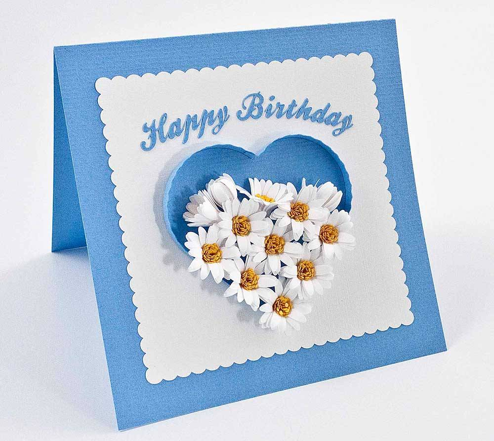 Handmade quilled birthday cards ideas origami for Quilling craft ideas