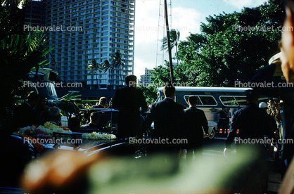 HAWAII JUNE 1963: AGENTS BESIDE JFK'S LIMO