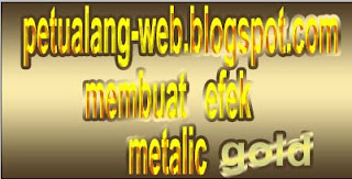 photoshop membuat efek tulisan metalik dan teks efek gold